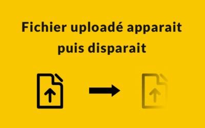 Fichier apparaît puis disparait dans Airtable